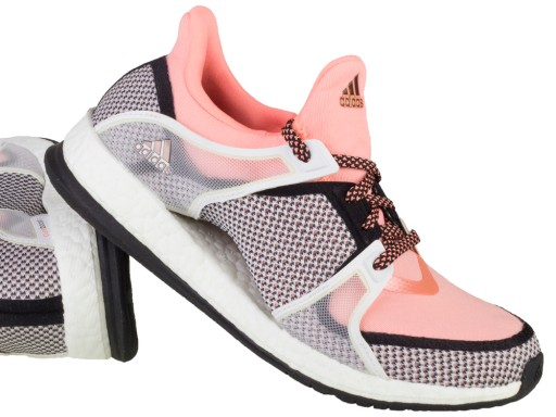 Damskie Adidas Pure Boost X TR W Czarny Fioletowy Szary