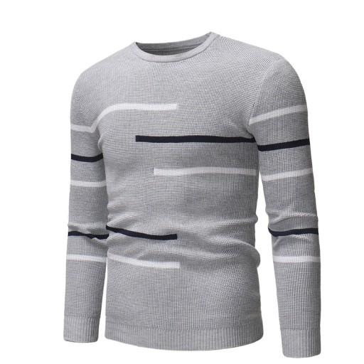 tawowe koszule z okrągłym dekoltem Dzianina męska 9814309681 Odzież Męska Swetry XW YSCIXW-9