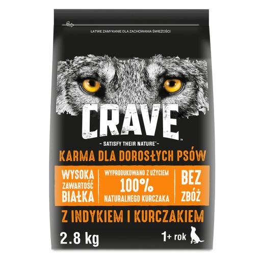 CRAVE Indyk Kurczak 2.8kg BEZ ZBÓŻ karma dla psa