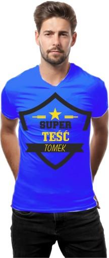 KOSZULKA T-shirt PREZENT dla Teściowej Teścia 10441897584 Odzież Męska T-shirty PO THDJPO-1