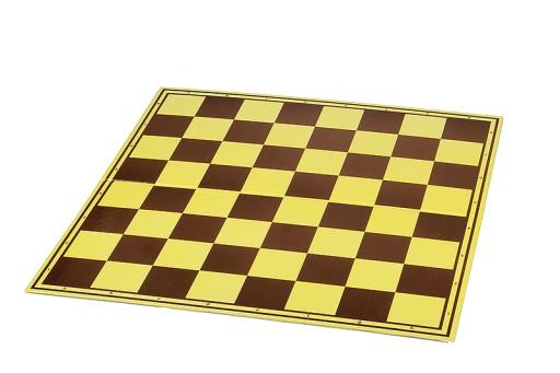 Szachownica tekturowa Turniejowa, żółto - brązowa