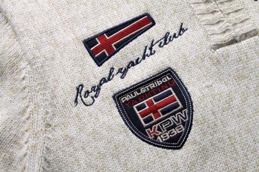 Męski, luźny, luźny sweter męski z zamkiem błyskaw 10709700012 Odzież Męska Swetry XW NAYEXW-6