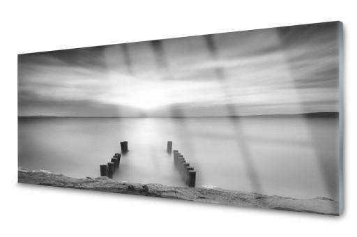 Lacobel Szklany Kuchenny Dekor Płytka Morze 120x60
