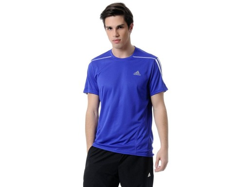 KOSZULKA Męska Sportowa Adidas S10920 FIOLETOWA 10105422844 Odzież Męska T-shirty BE LTRVBE-4