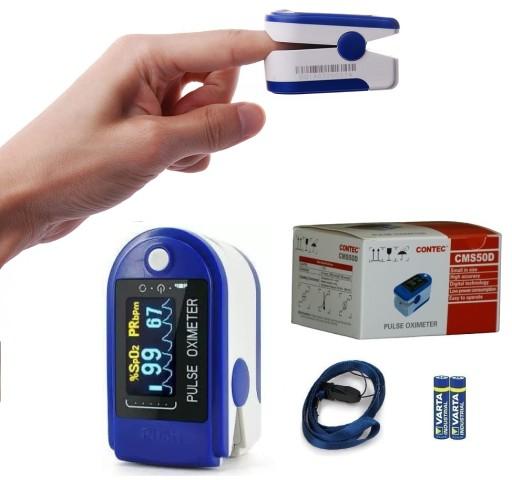 Pulsoksymetr Napalcowy Medyczny Cms50d Akcesoria 6846924266 Allegro Pl