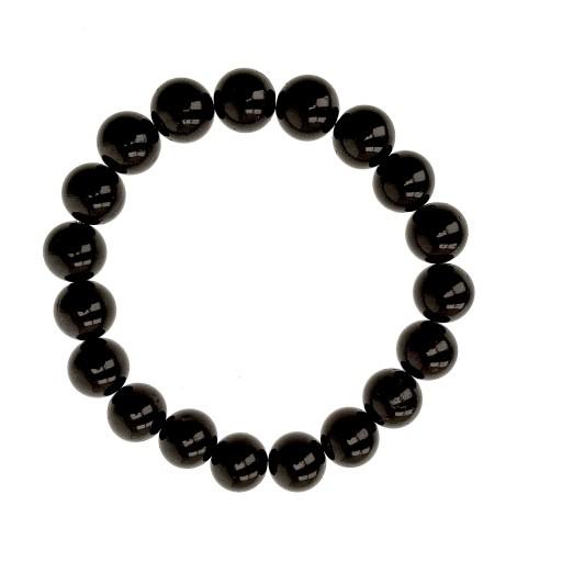 Czarny turmalin bransoletka 10mm kamień na ochronę