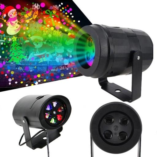 Projektor Swiateczny Laser 4 Klisze Motywy Slajdy 9934612670 Allegro Pl