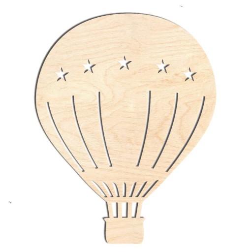 Balon Duzy Z Koszem Z Drewna Dekoracja Na Sciane D 9306591991 Allegro Pl