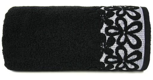 Ręcznik Bella 70x140 czarny Bawełna Greno