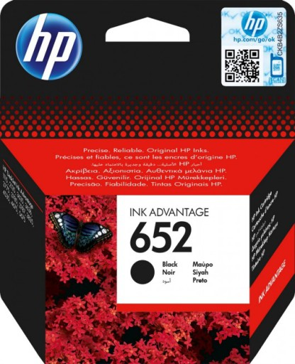 Tusz HP F6V25AE 652 Czarny DeskJet Ink Advantage