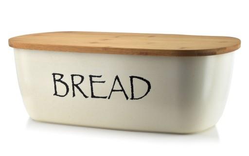 Chlebak pojemnik na pieczywo bambusowy z deską bia