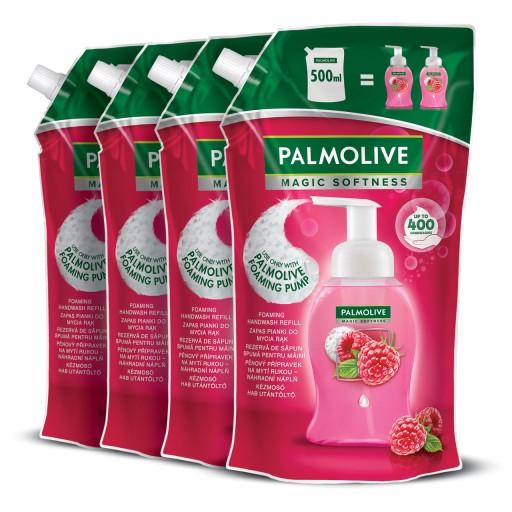 PALMOLIVE mydło w piance MALINA ZAPAS 4x500 ml