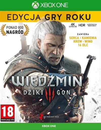 WIEDŹMIN 3 DZIKI GON - ED. GRY ROKU - Kod XBOX ONE