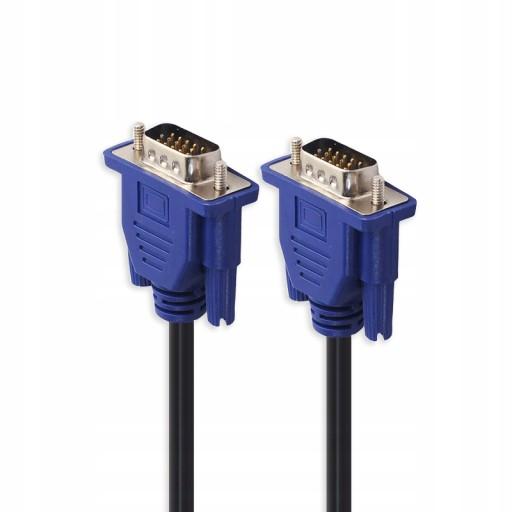 KABEL VGA-VGA do MONITORA VGA D-SUB FULL HD 1,5M