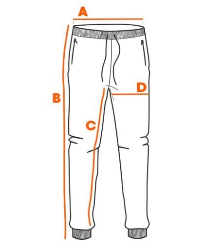 Spodnie męskie dresowe bawełna 1030P grafitowe L 10479552580 Odzież Męska Spodnie YF XIUOYF-2