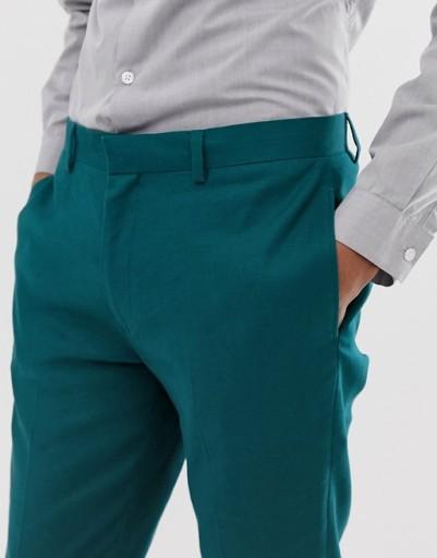 P-6-6-4 SPODNIE MĘSKIE ELEGANCKIE W32 L30 10766211032 Odzież Męska Spodnie XT VSRGXT-9