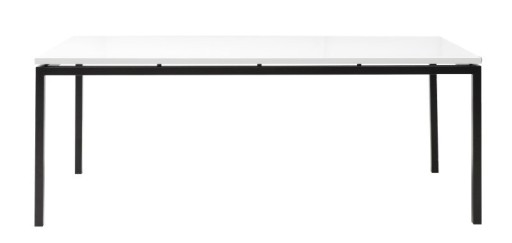Stół KOBE, biały, czarny, płyta mdf, metal - Acton