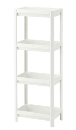 IKEA VESKEN REGAŁ ŁAZIENKOWY BIAŁY 36X23X100CM