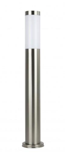 Lampa OGRODOWA stojąca INOX 65cm słupek srebrny