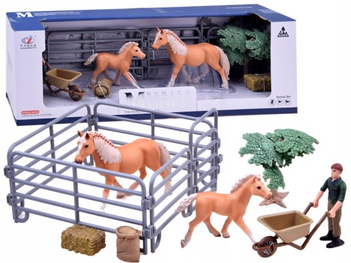 malowane figurki Koń KONIKI farmer ZAGRODA