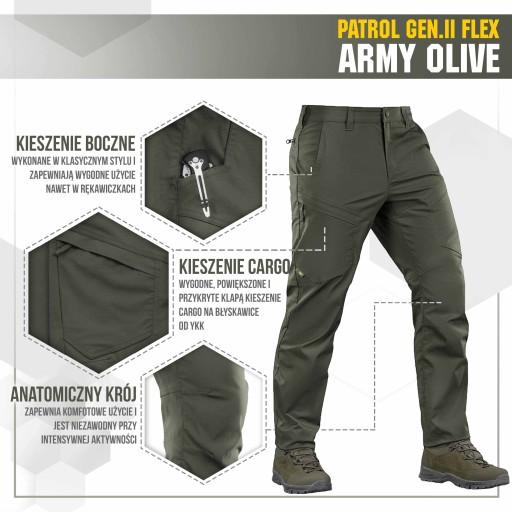 M-Tac Spodnie Patrol Gen II Flex Army Olive 36/36 10445733972 Odzież Męska Spodnie EG EGZQEG-4