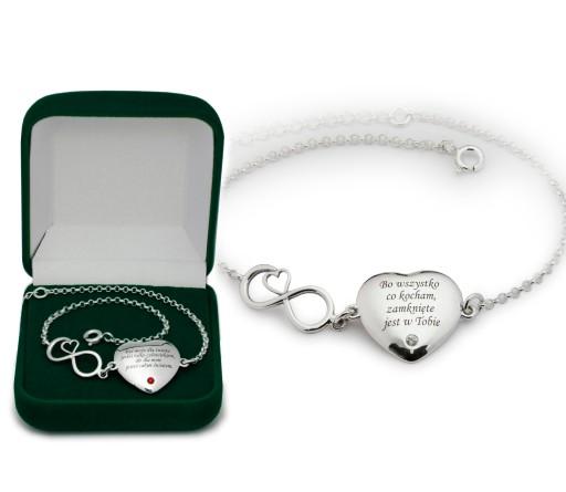 srebrna bransoletka prezent dla Niej +TWÓJ GRAWER