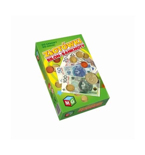 Pieniądze Złotówki Bilon Banknoty do zabawy
