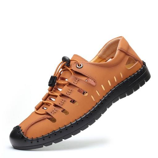 Duży rozmiar prawdziwa skÓra Męskie sandały r.47 10664931408 Obuwie Męskie Męskie KJ JFYGKJ-5