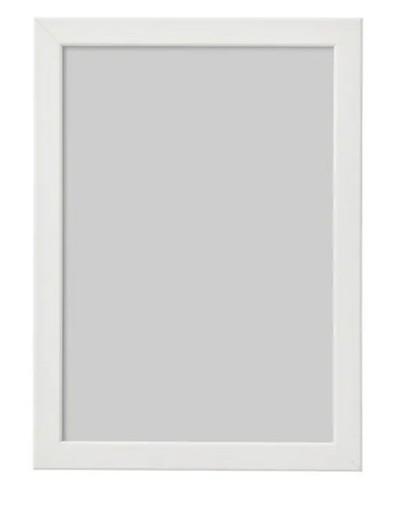 Ramka na zdjęcia 21x30 A4 IKEA FISKBO biała 24h!