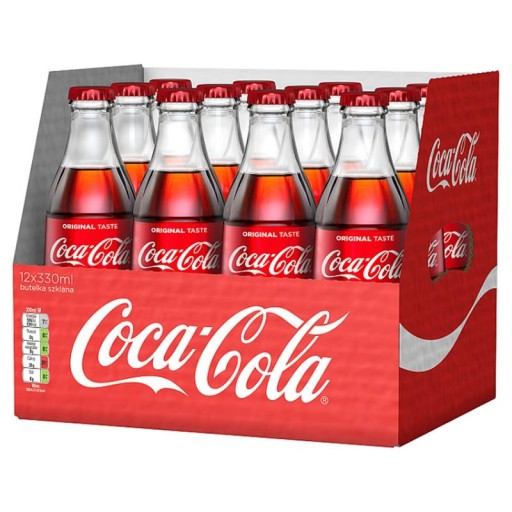 Coca Cola Szklo 330ml 12 Butelki Bezzwrotne 9281029574 Allegro Pl
