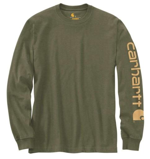 Koszulka Carhartt USA amerykańska Logo Long Sleeve 9743342090 Odzież Męska T-shirty HS ANBOHS-3