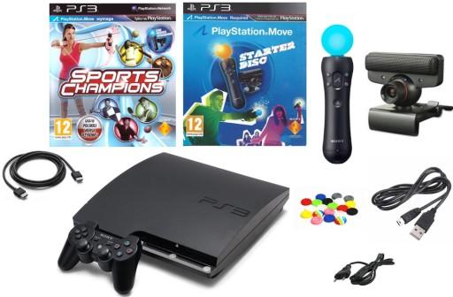 Konsola Sony Ps3 Playstation 3 Slim Zestaw Move 9654535944 Sklep Internetowy Agd Rtv Telefony Laptopy Allegro Pl