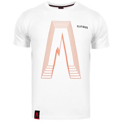 Koszulka męska Alpinus Altai biała ALP20TC0035 r.M 9922962887 Odzież Męska T-shirty EF VYDYEF-4