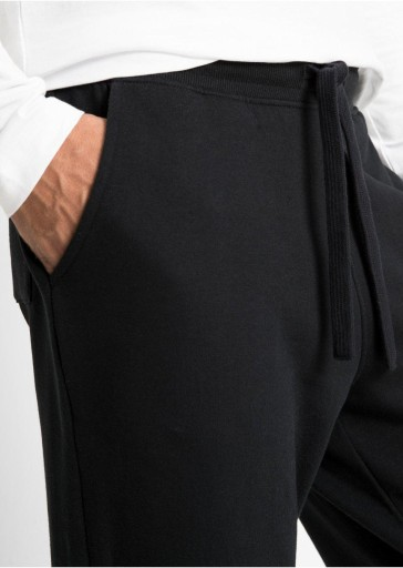BAWEŁNIANE SPODNIE NADRUK WIĄZANIE 48-50 10777723474 Odzież Męska Spodnie OE SSOYOE-3