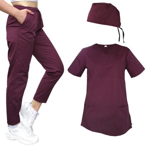Mundurek medyczny cygaretki bluza czepek rozm. XL