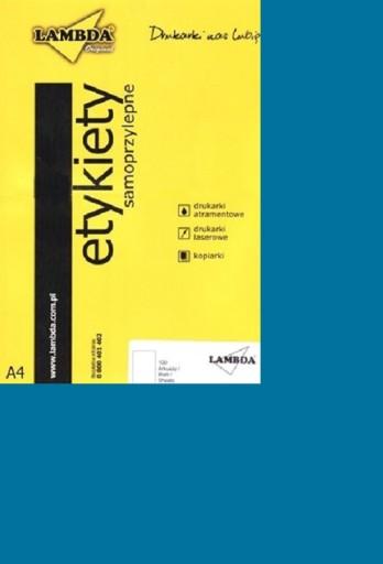 Etykiety samoprzylepne CIEMNE NIEBIESKIE A4 100szt