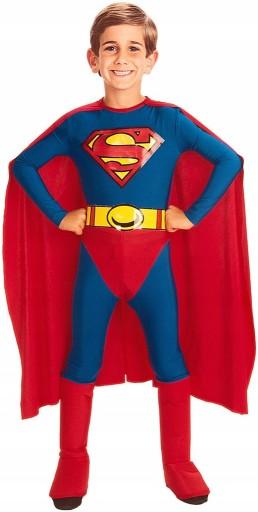 SUPERMAN KOSTIUM PELERYNA STRÓJ 5-7 L LICENCJA