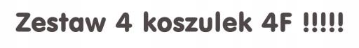4F KOSZULKA MĘSKA T-SHIRT ZESTAW 4 sztuki TSM003 10746695211 Odzież Męska T-shirty TE BIBTTE-6