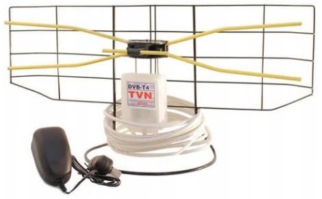 Najmocniejsza polska antena domowa DVB-T2 W1E 10m