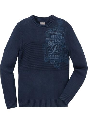 BONPRIX Sweter granatowy Regular-Fit r. 56/58-XL 9804273140 Odzież Męska Swetry MY FKELMY-5