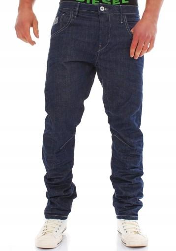 JACK JONES granatowe SZTYWNE jeansy LUŹNE _ 28/32 9976438580 Odzież Męska Jeansy CH RVXHCH-5