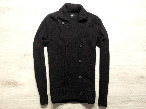 H&M _ WEŁNIANY CIEPŁY SWETER Z LOGO _ S/M 10763359080 Odzież Męska Swetry GL TBZCGL-5