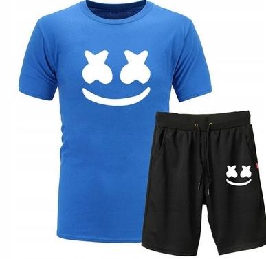 Męski Letni Komplet Marshmello Spodenki + T-shirt 10726429226 Odzież Męska Komplety FR UFELFR-2