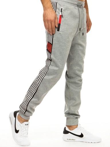 MĘSKIE SPODNIE JOGGERY DRESOWE ux2986 - XL 10498465380 Odzież Męska Spodnie AJ MYSLAJ-2