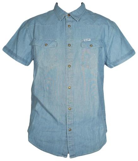 WRANGLER koszula regular blue S/S WESTERN SHIRT L 9977263094 Odzież Męska Koszule GK UCPYGK-7