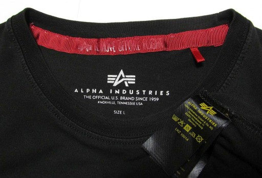 Alpha Industries ___ NASA __ original shirt ___ L 10710083749 Odzież Męska T-shirty TX LZALTX-9