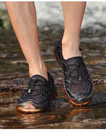 Obuwie robocze męskie sandały podrÓżować pieszo 44 10690243771 Obuwie Męskie Męskie KB XEBYKB-5