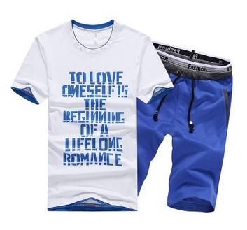 Męski LATO Komplet Napisy Spodenki + T-shirt r.XL 10741306829 Odzież Męska Komplety TI MWODTI-6
