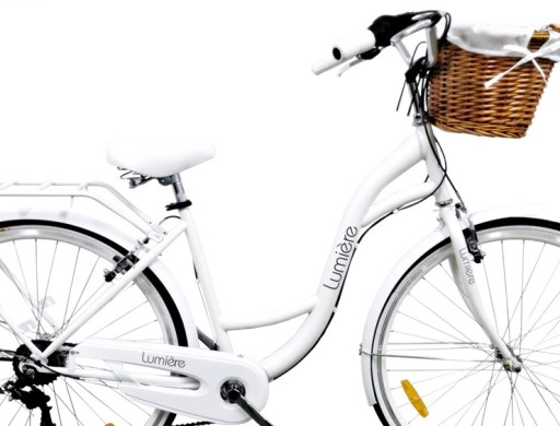 Lumiere Lekki Rower Miejski Damski 7b Koszyk Hit 10045549046 Allegro Pl