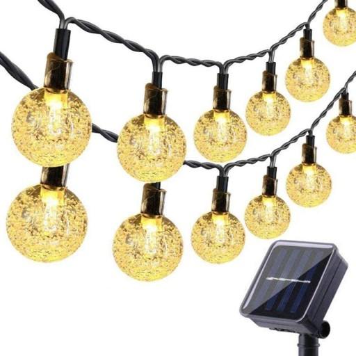 50Led 9.5M Lampki Solarne Ogrodowe Dekoracyjny